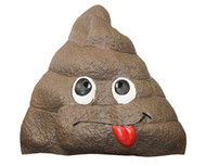 Rolling Doo Doo Giant Poop Fake Doody Head Latex Adult Mask