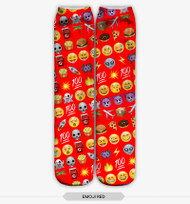 Emoticon Multi Emoji Stocking Socks Red One Size Fits All