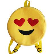 Emoticon Emoji Backpack Round Plush Heart Eyes