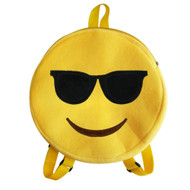 Emoticon Emoji Backpack Round Plush Sunglasses