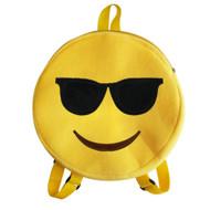 Emoticon Emoji Backpack Round Plush Sunglasses