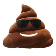 Emoticon Emoji Brown Triangle Cushion Pillow Stuffed Plush Toy Cool Poop