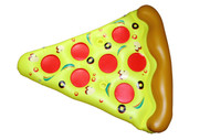 Rolling Aqua Inflatable Pizza Slice
