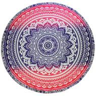 Rolling Aqua Indian Bohemian Beach Throw Blanket