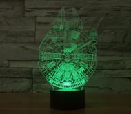 Phantom Lamps Millennium Falcon 3D LED Illusion Lamp