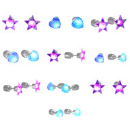 Rolling Lit LED Light Up Assorted Stud Earrings