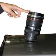 Rolling Up Camera Lens Suction Mug Black