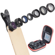 Apexel 7 in 1 IPhone Lens  - Fish Eye Lens - Macro Lens and Wide Angle Lens - Zoom Lens for IPhone 8, 7, 6s, 6, 5s