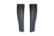 Black Plastic High Boot Shapers 14""