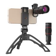 Apexel Smartphone18X Telescope, Fisheye, Wide Angle 15x Macro lens Kit with Hand Held Tripod