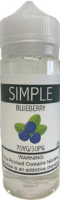 SIMPLE Blueberry eLiquid 120ml bottle