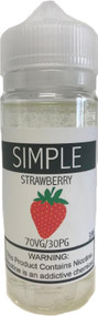 SIMPLE Strawberry eLiquid 120ml bottle