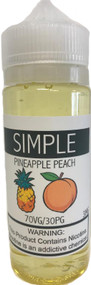 SIMPLE Pineapple Peach eLiquid 120ml bottle
