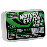 WOTOFO Agleted Organic 10pc Cotton 6mm (for Profile RDA)