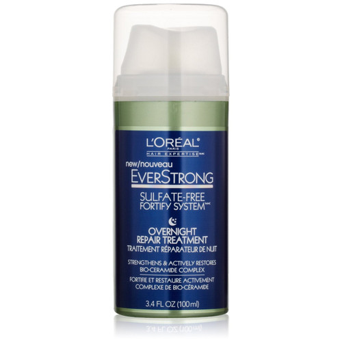 L'Oreal Paris EverStrong Overnight Hair Repair and Fortify Treatment Front Photo