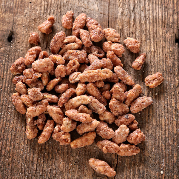 Light praline pecan pieces - large