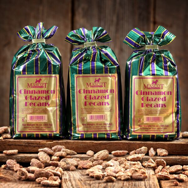 3 10oz bags of cinnamon glazed pecans