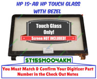 HP 15-AB touch screen LCD bezel w glass assembly - see pic