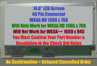"""Msi A4000-078us Replacement LAPTOP LCD Screen 14.0"""" WXGA HD LED DIODE (Substitute Only. Not a )"""