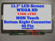 """Au Optronics B133xw03 V.1 Full Hinges Replacement LAPTOP LCD Screen 13.3"""" WXGA HD LED DIODE (Substitute Replacement LCD Screen Only. Not a Laptop )"""