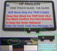 Hp Pavilion 13-a110dx X360 Touch Glass Replacement 13.3""