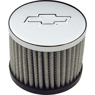 Air Breather Caps - Push-In Filter Air Breathers - Chrome, without hood