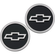 Bowtie logo Freeze Plug Inserts - Black, raised logo