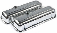 Chevrolet Big-Block V-8, 1965–1996 - Stamped Valve Covers - Chevrolet Big-Block V-8, 1965–1996 - Chrome, tall, with baffle
