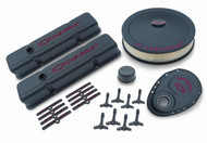 Chevrolet Small-Block V-8, 1958–1986 - Deluxe Dress-Up Kits - Black crinkle