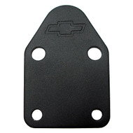 Fuel Pump Block-Off Plates - Small-Block, black crinkle