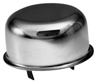 Breather Cap; Push-On; 3in. Dia.; Chrome