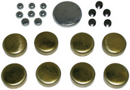 Brass Freeze Plug Kit; Ford 429-460