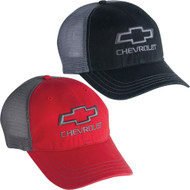 CHEVROLET OPEN BOWTIE GARMENT WASHED TRUCKER AND MESH CAP