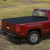 "Tonneau Cover - Soft Folding - 5' 8"" Short Box, Hi Gloss Vinyl, Black"
