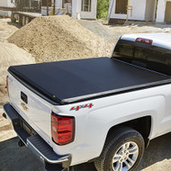 Tonneau Cover - Soft Folding - Black Tri-Fold, 8' Long Box