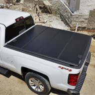 Tonneau Cover - Hard Folding - 8' Long Box, High Gloss Vinyl, Black