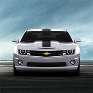 Custom Graphics -  Center Pin Stripe Vinyl Wrap by Original Wraps,  Matte Black