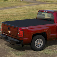 "Tonneau Cover - Soft Roll-Up - Black with Embossed Bowtie Logo, 6'6"" Standard Box"
