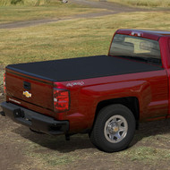Tonneau Cover - Soft Roll-Up - Black with Embossed Bowtie Logo, 8' Long Box