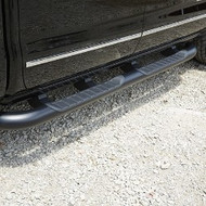 Assist Steps - 4-Inch Round, Black, For Use on Crew Cab Models with Gas Engine (LV3, L83, L86 and L96)