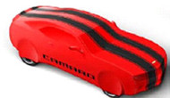 Vehicle Cover - Outdoor - Red with Black Stripes, Camaro Logo - Coupe