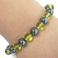 Hematite & Glass Magnetic Bracelet
