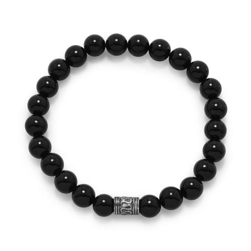 Black Onyx Bead Bracelet