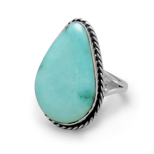 Stabilized Freeform Turquoise Ring