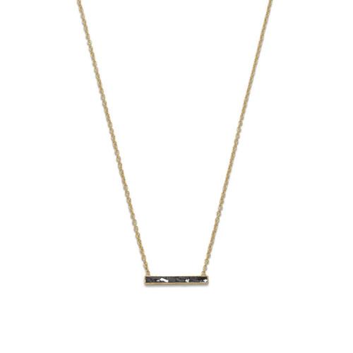 14 Karat Gold Plated Diamond Chip Necklace