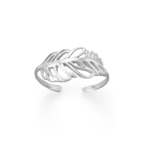 Feather Toe Ring