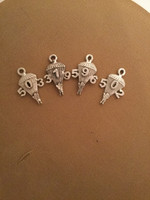 Group Number Parachute Earrings