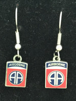Airborne 82nd Enameled Earrings