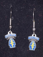 Airborne Special Forces Enameled Earrings