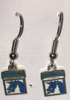 18th Airborne Enameled Earrings
